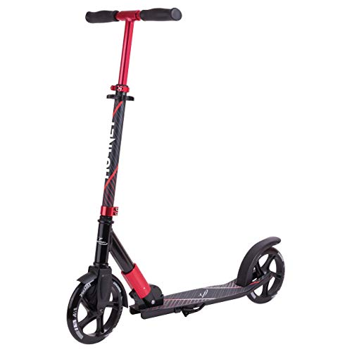 HUDORA 14541 Scooter, schwarz/rot