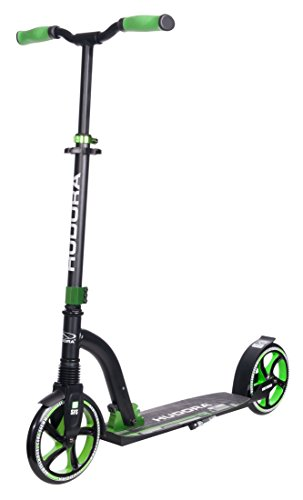 HUDORA Big Wheel Scooter Flex 200, Tret-Roller Stoßdämpfung – City-Scooter, grün, 14248