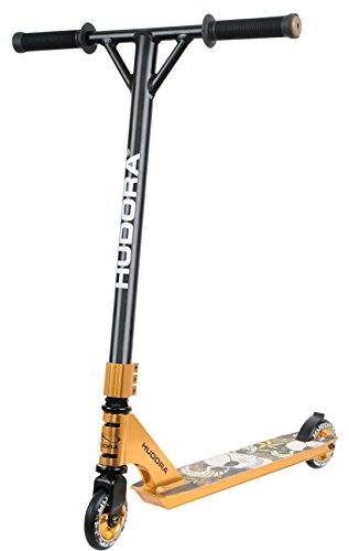 HUDORA Stunt-Scooter XR-25 gold -14027 – Freestyle Tretroller