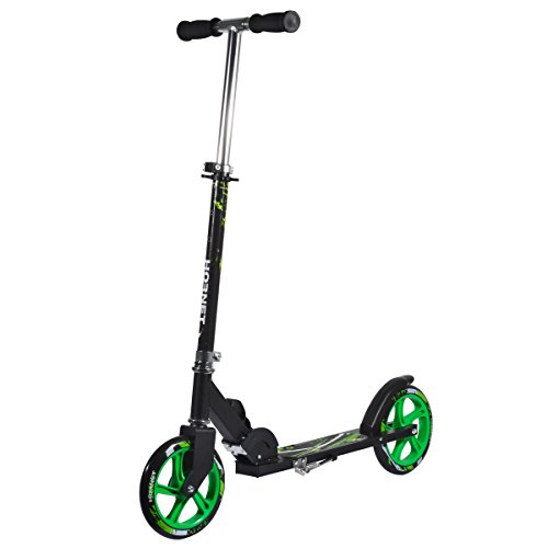 Hornet 14929 – Scooter Roller GS 200, Tret-Roller Big Wheel, neon-grün