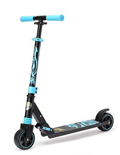 Star-Scooter Kickscooter Roller Kinderroller Tretroller für Jungen und Mädchen ab 4 – 5 Jahre ★ Kinder Roller klappbar mit extra dicken Rädern ★ Schwarz & Blau