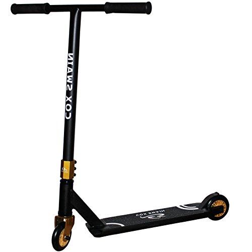 Cox Swain Stunt Scooter Ramp-X345 – ABEC 9 und PU Rollen! – Super Heavy Quality!, Farbe: Schwarz/Gold